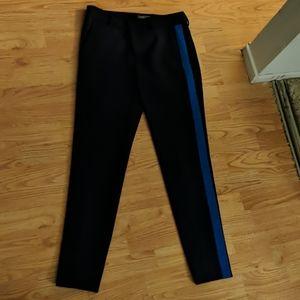 Vince wool color block blue trousers
